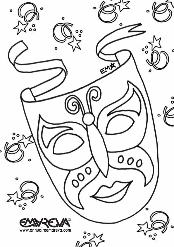 Coloriage enfant - Coloriage masque carnaval ...